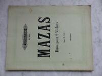 Mazas Dous pour 2 Violons Violine - Edition Peters 1956 - Hermann