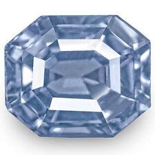 Emerald Shaped Transparent Blue Loose Sapphires