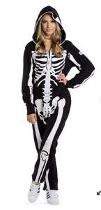 Tipsy Elves Skeleton Body Suit Costume-unisex Small
