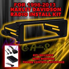 98-2013 HARLEY TOURING STEREO RADIO CD INSTALL ADAPTER DASH KIT THUMB CONTROLS