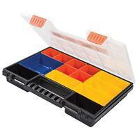 34cm Plastic Organiser Storage Tool Box 13 Compartment Parts Screws Nails