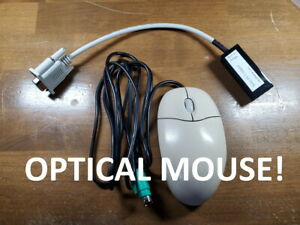 Amiga Atari ST Optical Mouse w/ nice adapter and extension FREE US SHIP