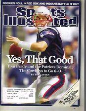 TOM BRADY NEW ENGLAND PATRIOTS Sports Illustrated Magazine 10/22/07 ROCKIES