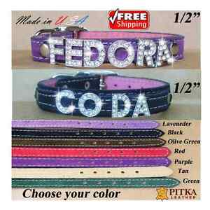 FREE SHIPPING - Cute Collars for Toy Dogs - Custom Bling Cat Collars - USA - XS
