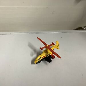 """Hot Wheels Sky Knife 2006 Mattel Yellow Rescue 1 Helicopter 3.5"""" Toy"""
