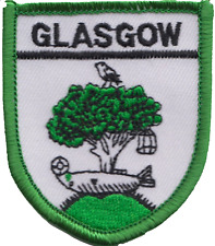 Glasgow City Scotland Flag Embroidered Patch Badge