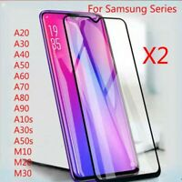 2*For Samsung Galaxy A10 A20e A40 A70 Full Cover Tempered Glass Curved Protector