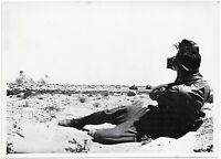 Filmberichter in Afrika. Orig-Pressephoto, von 1942