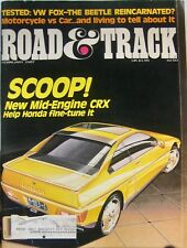 Road and Track Magazine Feb. 1987 Honda CRX Mid-Engine - VW Fox