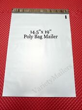 50 Large Poly Bag Mailers 145x19 Big Self Sealing Plastic Shipping Bags