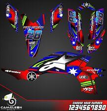 Yamaha YFZ 450 graphics kit 2003 2004 2005 2006 2007 2008 stickers decals kit