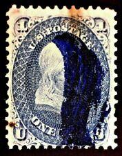 CatalinaStamps: US Stamp #63b Used Blue Cancel, SCV=$880