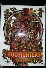 #/350 FOO FIGHTERS 2018 ST LOUIS Show Poster Tour Print Cardinals Litho Anheuser