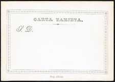 678 CHILE PS STATIONERY POSTAL CARD 1872 UNUSED # TP8