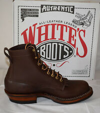 """White's 350W Classic Work 6"""" Brown Leather Boots UK7.5 Biker Farmer Rancher"""