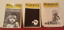 PLAYBILL 3 Pc Lot Theatre Program Majestic Les Miserables Into The Woods   ✞