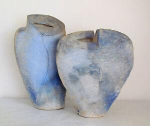 Duo Keramikvasen Studio Martin McWilliam signiert______________rare art ceramics