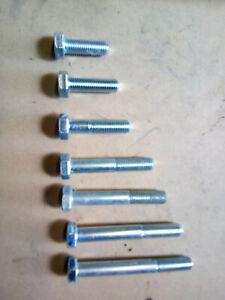 M12 x 1.5 Metric Fine Bolts Sets Hex Head 10.9 Grade  Zinc Plated DIN 960