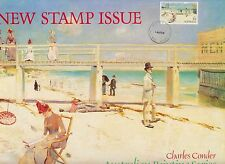Stamp Australia 1984 high value $5 Holiday Mentone painting official FDC panel