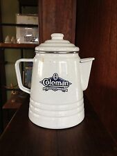 Coleman Camping Enamelware Coffee Pot White/ Blue The Sunshine of the night