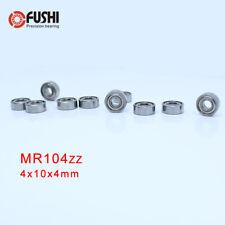 [10Pcs] MR104ZZ (4x10x4 mm ) Bearing Metal Shiedled Miniature Ball Bearings 104Z