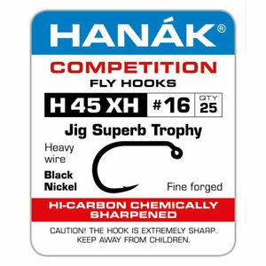 Hanak H 45 XH TROPHY BARBED JIG FLY TYING NYMPH HOOK