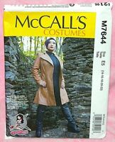 Uncut McCalls Misses Sz 14-22 Semi-Fitted Lined Jacket Coat Costume Pattern 7644