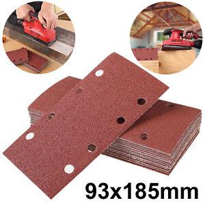 93x185mm Sanding Sheets Sander Paper Pads 40~360 Grit  For Wood Metal Polishing