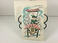 "Vintage Mid Century 1950's Greeting Card ""Belated Birthday "" w Envelope"
