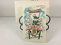 "Vintage Mid Century 1950's Greeting Card ""Belated Birthday "" w Envelope"