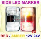 2X 12V 24V Amber Red Clearance Lights Side Marker LED Trailer Truck Car ADR SAE
