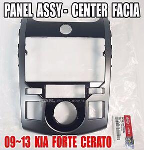 KIA 2009-2013 Forte Cerato Center Facia Panel Genuine OEM  84740-1M700DAJ