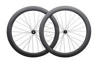 DISC BRAKE Carbon wheels CENTER LOCK Clincher Tubeless road bike 700C 55mm deep