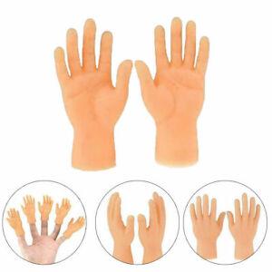 Left And Right Mini Tiny Hand Models Joke Finger Puppet Little Finger Hand Kid