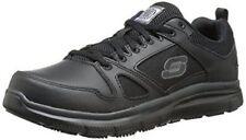 77040 Skechers Mens Flex Advantage Slip Resistant Leather Work Uniform BLACK