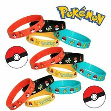 5 x  Pokemon - pikachu  Silicone Wristband Bracelet Party Bag Fillers Gift UK