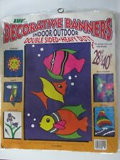 """New listing Avy Mar Indoor Outdor Double Sided 28"""" X 40"""" Ocean Fish Colorful Flag Banner"""