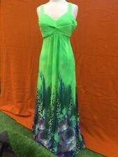 JULIETTE formal maxi, multi-colour dress , size 10.