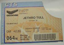 Jethro Tull Concert 21-10-91 mangiare GRUGAHALLE TICKET BIGLIETTO CONCERTO biglietto