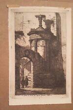 CHARLES MERYON-Drypoint Etching-Entree du Convent des Capuchins Francais-1854