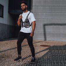GINGTTO Black Men Jeans Skinny Denim Super Stretch Slim Fit Classic Pant 30