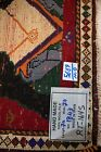 Pictorial Tribal Design Vintage Red 2X2 Small Square Rug Oriental Wool Carpet