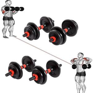 Adjustable 15, 20KG Dumbbells Set Free Weights Gym Dumbbell Pair Fitness Workout