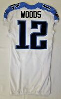 #12 D.J. Woods of Tennessee Titans NFL Game Issued Locker Room Jersey