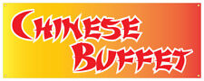 Chinese Buffet Banner Won-Ton Oriental Take-out Asian Retail Store Sign 36x96