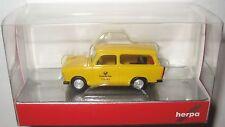 Herpa 093095 Trabant 601 Universal (Kombi) Deutsche Post 1:87 HO