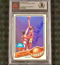 KAREEM ABDUL-JABBAR Signed 1979-80 Topps #10 Lakers card ~ BAS BGS BVG Autograph