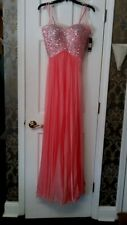 NEW La Femme Coral Gown Sequin Strapless Formal Dress #18342 Size 2 NWT, Juniors