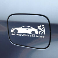No Free Rides Gas Or Ass Funny Car Window Sticker Truck Bumper Decal Waterproof