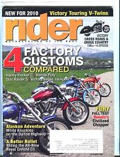 Rider Magazine October 2009 Harley Rocker C EX w/ML 050717nonjhe
